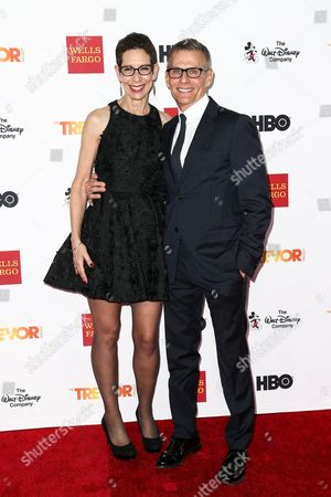 Abbe Land, left, and Michael Lombardo attend 2015 TrevorLIVE LA held at the Hollywood Palladium, in Los Angeles