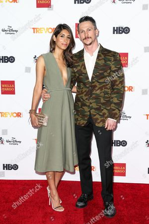 Jonathan Tucker, right, and Tara Ahamed Tucker attend 2015 TrevorLIVE LA held at the Hollywood Palladium, in Los Angeles