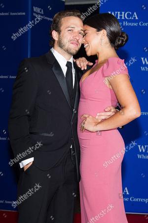 Henri Esteve and Gina Rodriguez attend the 2015 White House Correspondents' Association Dinner at the Washington Hilton Hotel, in Washington