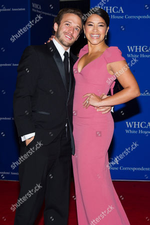 Stock Picture of Henri Esteve and Gina Rodriguez attend the 2015 White House Correspondents' Association Dinner at the Washington Hilton Hotel, in Washington