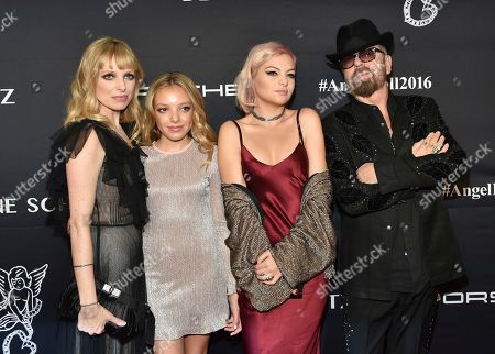 Anoushka Fisz, left, Indya Stewart, kaya Stewart and Dave Stewart attend the 2016 Angel Ball, benefitting Gabrielle's Angel Foundation for Cancer Research, at Cipriani Wall Street, in New York