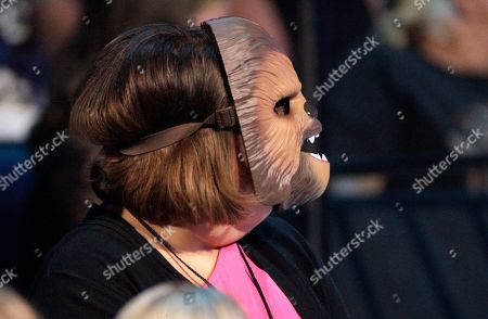 "Candace Payne, also known as ""Chewbacca Mom, is seen in the audience at the CMT Music Awards at the Bridgestone Arena, in Nashville, Tenn"
