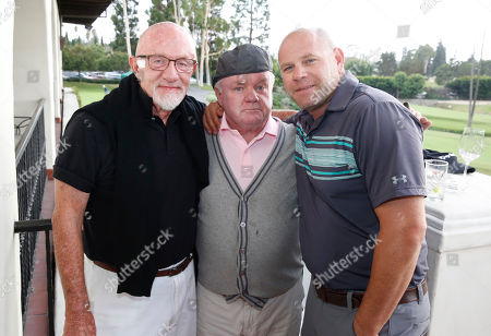 Jonathan Banks, from left, Jack McGee, and Domenick Lombardozzi attend the 2016 Emmys Golf Classic presented by the Television Academy Foundation at the Wilshire Country Club, in Los Angeles