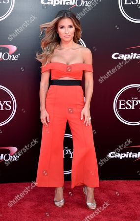 Jesse James Decker arrives at the ESPY Awards at the Microsoft Theater, in Los Angeles