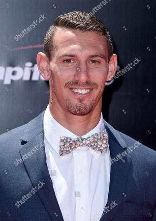 Soccer player, Daniel Steres, LA Galaxy, arrives at the ESPY Awards at the Microsoft Theater, in Los Angeles