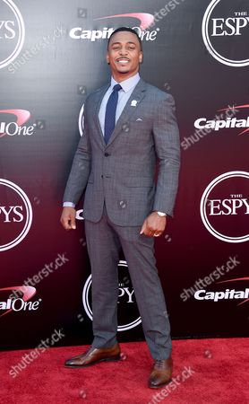 Stock Picture of RonReaco Lee arrives at the ESPY Awards at the Microsoft Theater, in Los Angeles