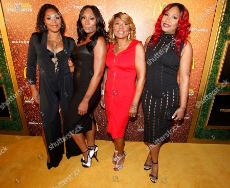 Reality television personalities Trina Braxton left, Towanda Braxton, Evelyn Braxton and Traci Braxton attend the 13th Annual McDonald's 365 Black Awards at the Ernest Moral Convention Friday, July 1,2016 in New Orleans, LA