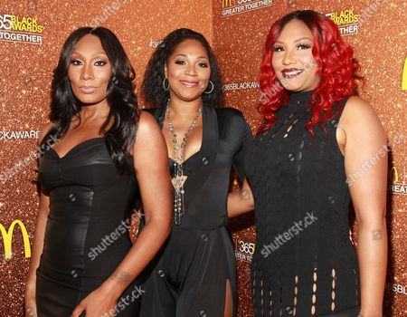 Reality television personalities Towanda Braxton left, Trina Braxton and Traci Braxton attend the 13th Annual McDonald's 365 Black Awards at the Ernest Moral Convention Friday, July 1,2016 in New Orleans, LA