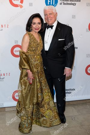 Joyce Brown, left, and Dennis Basso attend the Fashion Institute of Technology Annual Gala benefit at The Plaza, in New York