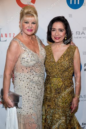Ivana Trump, left, and Joyce Brown attend the Fashion Institute of Technology Annual Gala benefit at The Plaza, in New York