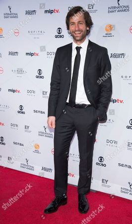 Florian Stetter attends the 44th International Emmy Awards at the New York Hilton, in New York
