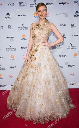 Stock Picture of Maria Eugenia Suconic attends the 44th International Emmy Awards at the New York Hilton, in New York