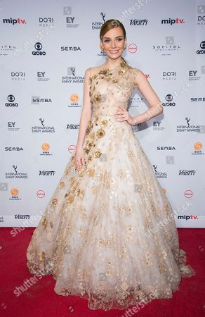 Maria Eugenia Suconic attends the 44th International Emmy Awards at the New York Hilton, in New York