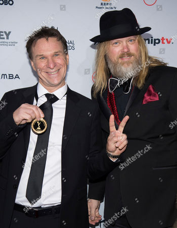Christer Akerlund and Anders Lundin attend the 44th International Emmy Awards at the New York Hilton, in New York
