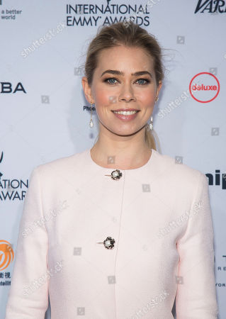Birgitte Hjort Sorensen attends the 44th International Emmy Awards at the New York Hilton, in New York