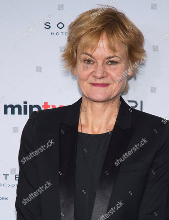 Piv Bernth attends the 44th International Emmy Awards at the New York Hilton, in New York