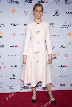 Birgitte Hjort Sorensen attends the 44th International Emmy Awards at the New York Hilton, in New York