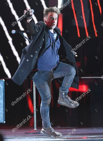 Vicentico, of Los Fabulosos Cadillacs, performs a medley at the 17th annual Latin Grammy Awards at the T-Mobile Arena, in Las Vegas