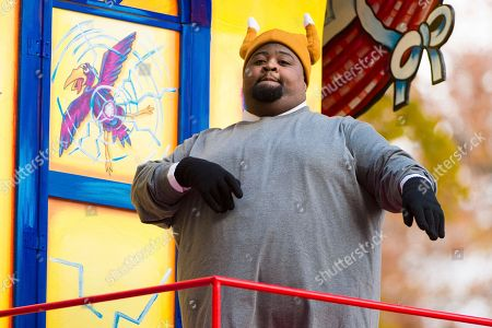 Musician LunchMoney Lewis is seen during the Macy's Thanksgiving Day Parade, in New York