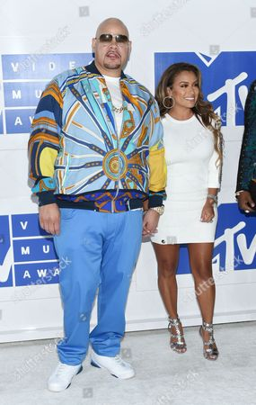 Stock Image of Fat Joe, left, and Lorena Cartagena arrive at the MTV Video Music Awards at Madison Square Garden, in New York