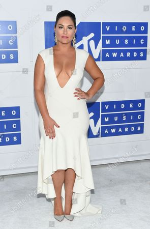 Taylor Strecker arrives at the MTV Video Music Awards at Madison Square Garden, in New York