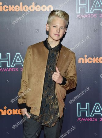 Carson Lueders attends the 2016 Nickelodeon HALO Awards at Pier 36, in New York