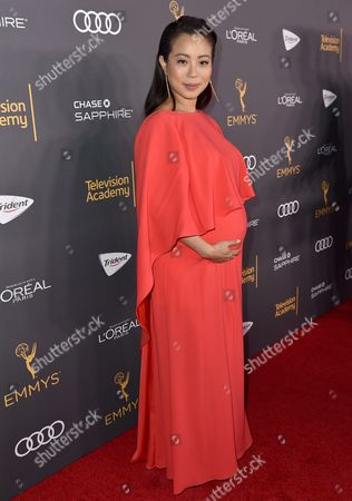 Michelle Ang arrives at the Performers Nominee Reception presented by the Television Academy at the Pacific Design Center, in West Hollywood, Calif