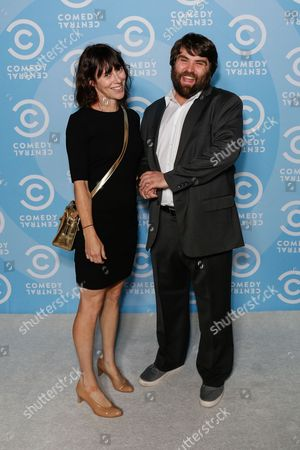 Andrea Rosen, left, and John Gemberling arrive at the 2016 Primetime Emmy Awards - Comedy Central Pre Party, in Los Angeles