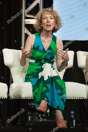 "Stock Picture of Darlene Hunt participates in the ""Good Girls Revolt"" panel during the Amazon Television Critics Association summer press tour, in Beverly Hills, Calif"