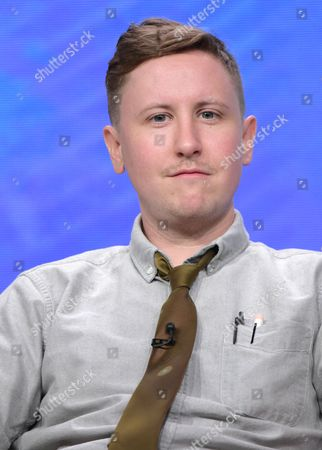 """Johnny Pemberton participates in the """"Son of Zorn"""" panel during the Fox Television Critics Association summer press tour, in Beverly Hills, Calif"""