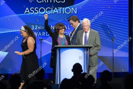 "Stock Image of Valerie Harper, left, and Allan Burns accept the Heritage Award for""The Mary Tyler Moore Show"" at the 32nd Annual Television Critics Association Awards Show at the Beverly Hilton, in Beverly Hills, Calif"