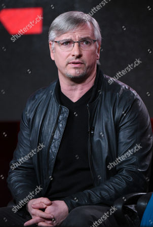 "Creator and executive producer Glen Mazzara participates in the ""Damien"" panel at the A&E 2016 Winter TCA, in Pasadena, Calif"