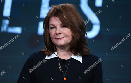 """Stock Picture of Tracey Scoffield speaks during the panel for """"The Frankenstein Chronicles"""" at the A&E 2016 Winter TCA, in Pasadena, Calif"""