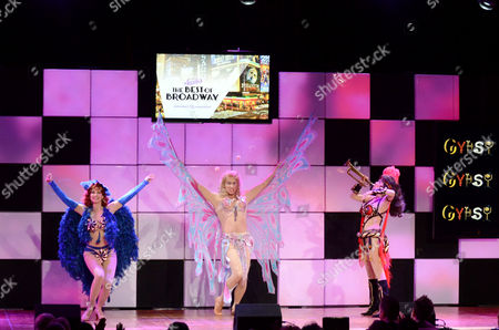 From left, actors Sharon Lawrence, Steven Weber and Linda Hart perform at the 21st Annual 'A Night at Sardi's' to benefit the Alzheimer's Association at the Beverly Hilton Hotel on in Beverly Hills, Calif