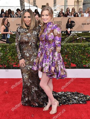 Stock Picture of Diana Madison, left, and Kylie Hart arrive at the 22nd annual Screen Actors Guild Awards at the Shrine Auditorium & Expo Hall, in Los Angeles
