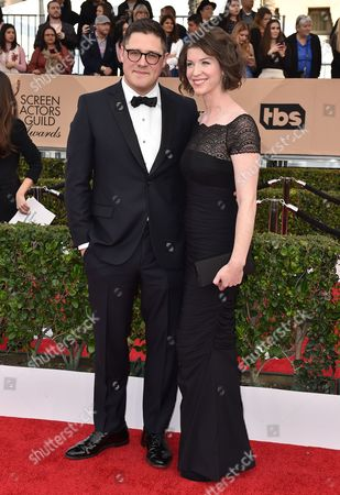 Stock Image of Rich Sommer, left, and Virginia Donohoe arrive at the 22nd annual Screen Actors Guild Awards at the Shrine Auditorium & Expo Hall, in Los Angeles