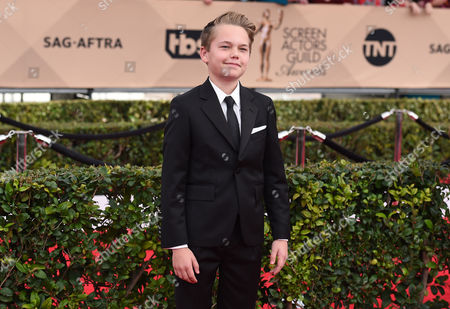 Mason Vale Cotton arrives at the 22nd annual Screen Actors Guild Awards at the Shrine Auditorium & Expo Hall, in Los Angeles