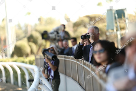 Kenny Mayne is seen at the 30th Running of the Breeders' Cup World Championships Day 2, on in Arcadia, Calif