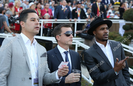 Rob Dyrdek, center, is seen at the 30th Running of the Breeders' Cup World Championships Day 2, on in Arcadia, Calif
