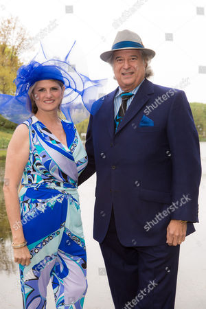 """Bonnie Comley and Stewart F. Lane - aka """"Mr. Broadway"""" arrive at 34th Annual Frederick Law Olmsted Awards Luncheon at Central Park on Weds, in New York"""