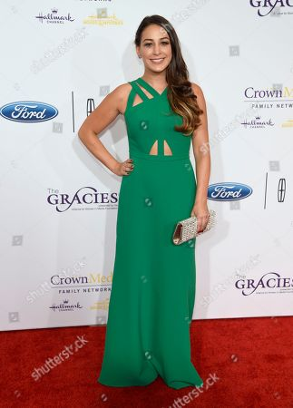 Stock Picture of Monica Ten-Kate arrives at the 41st annual Gracie Awards Gala at the Beverly Wilshire Hotel, in Beverly Hills, Calif