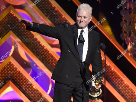 Anthony Geary accepts the award for outstanding lead actor in a drama series for General Hospital at the 42nd annual Daytime Emmy Awards at Warner Bros. Studios, in Burbank, Calif