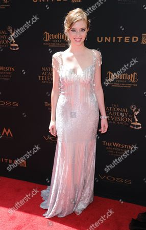 Stock Image of Ashlyn Pearce arrives at the 43rd annual Daytime Emmy Awards at the Westin Bonaventure Hotel, in Los Angeles