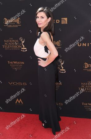 Finola Hughes arrives at the 43rd annual Daytime Emmy Awards at the Westin Bonaventure Hotel, in Los Angeles