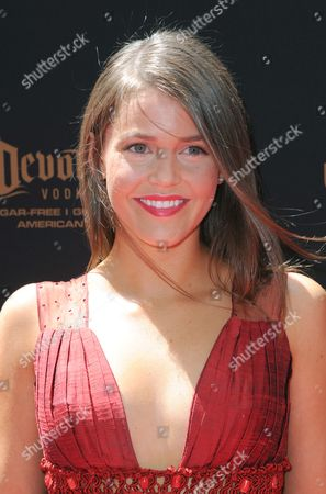 Mara McCaffray arrives at the 43rd annual Daytime Emmy Awards at the Westin Bonaventure Hotel, in Los Angeles