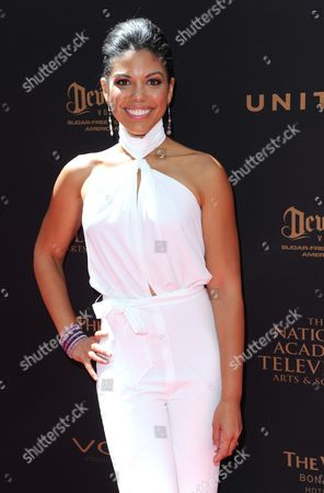Karla Mosley arrives at the 43rd annual Daytime Emmy Awards at the Westin Bonaventure Hotel, in Los Angeles