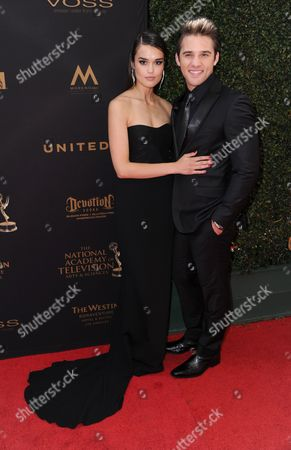 True O'Brien, left, and Casey Moss arrive at the 43rd annual Daytime Emmy Awards at the Westin Bonaventure Hotel, in Los Angeles