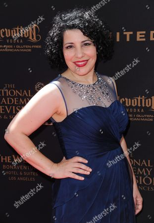 Stock Image of Julie Garnye arrives at the 43rd annual Daytime Emmy Awards at the Westin Bonaventure Hotel, in Los Angeles