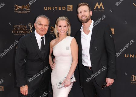 Dr. Andrew Ordon, from left, Dr. Jennifer Ashton, and Dr. Travis Stork arrive at the 43rd annual Daytime Emmy Awards at the Westin Bonaventure Hotel, in Los Angeles