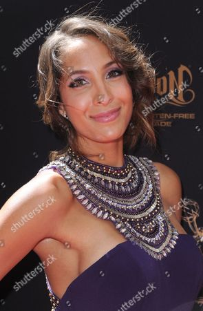 Christel Khalil arrives at the 43rd annual Daytime Emmy Awards at the Westin Bonaventure Hotel, in Los Angeles